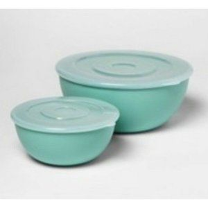 Room Essentials 2pc Mixing Bowl Set with Lids,